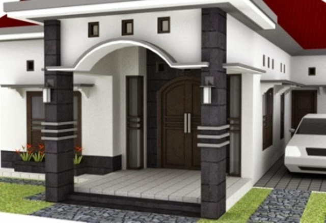 cara memilih bentuk tiang teras rumah model minimalis
