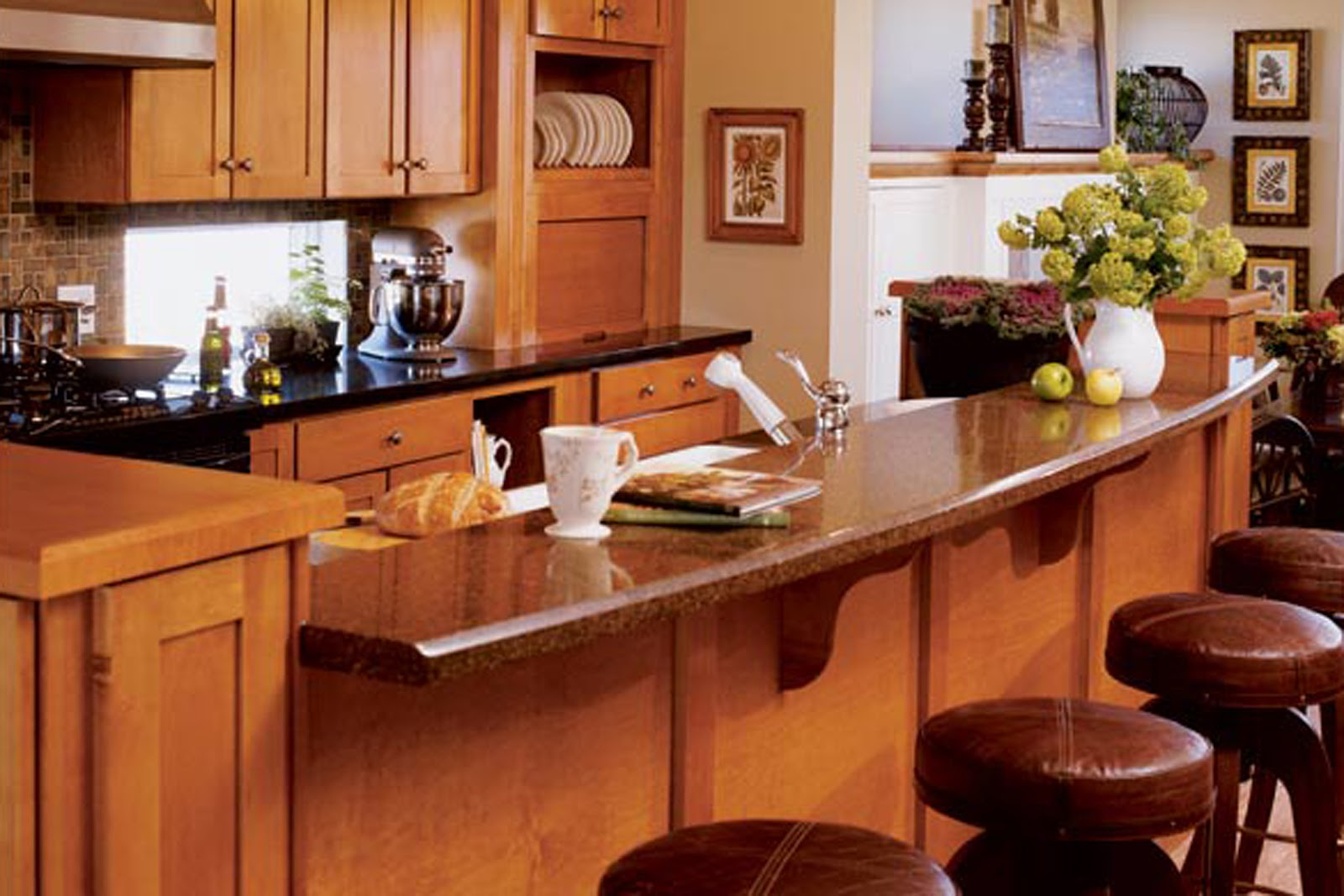 Simply elegant home designs blog february 2011 for Small kitchen layout with island