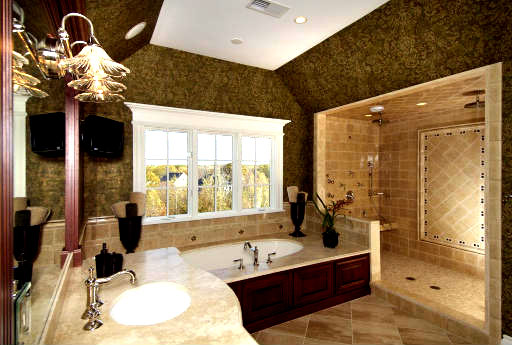 My life in the nutt house 15 luxury bathrooms for Big bathroom ideas