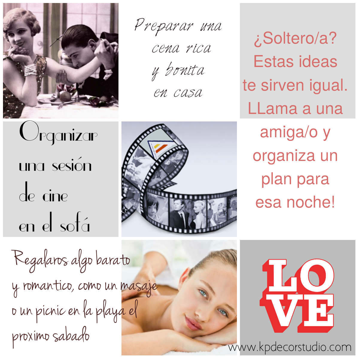 Kp decor studio ideas para celebrar san valent n - Ideas originales san valentin ...