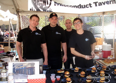 The Crew from Misconduct Tavern, Philly Burger Brawl - Photo by Glamorosi