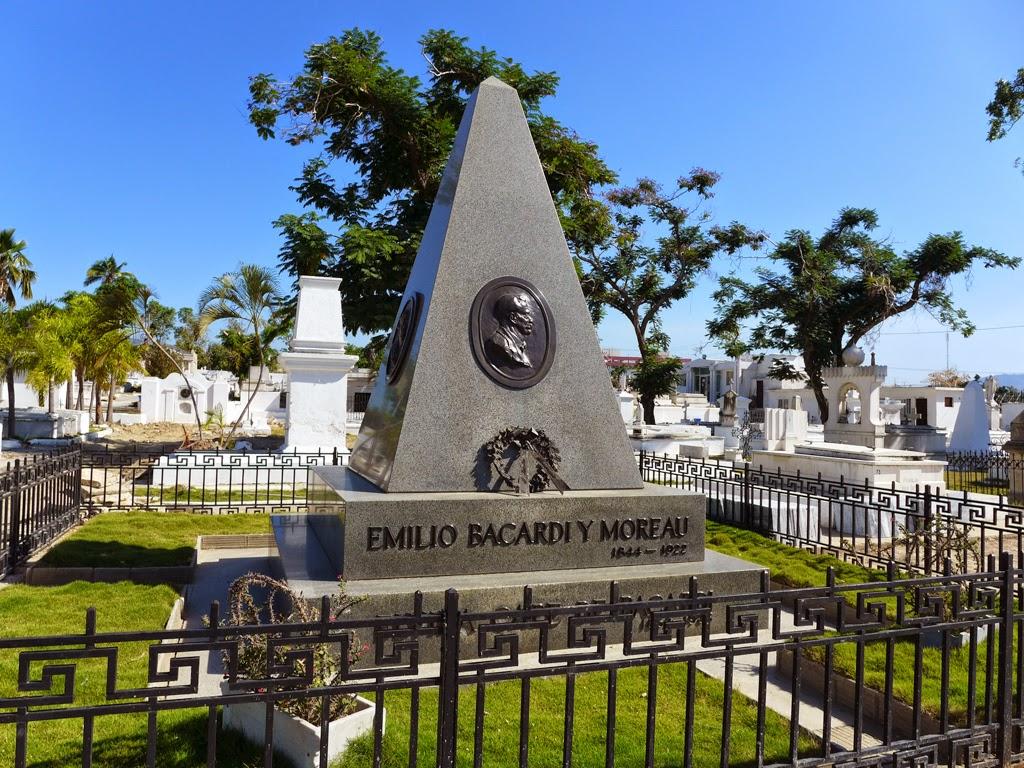 Santiago de Cuba Bacardi headstone