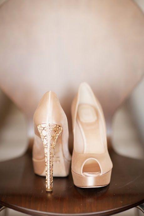 Rose gold Dior heels