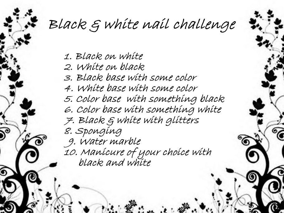 Black and white challenge