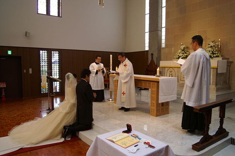 A Catholic wedding in Kyoto Japan c Hideyuki Kamon published under a