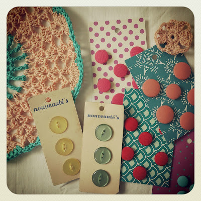 pastel doily, crochet, handmade, Haafner, instagram, buttons, vintage