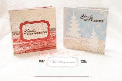 Zimowe foldery na płyty CD