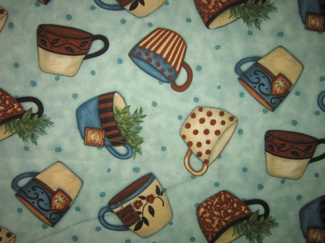 Relevant Tea Leaf Tea Themed Fabric