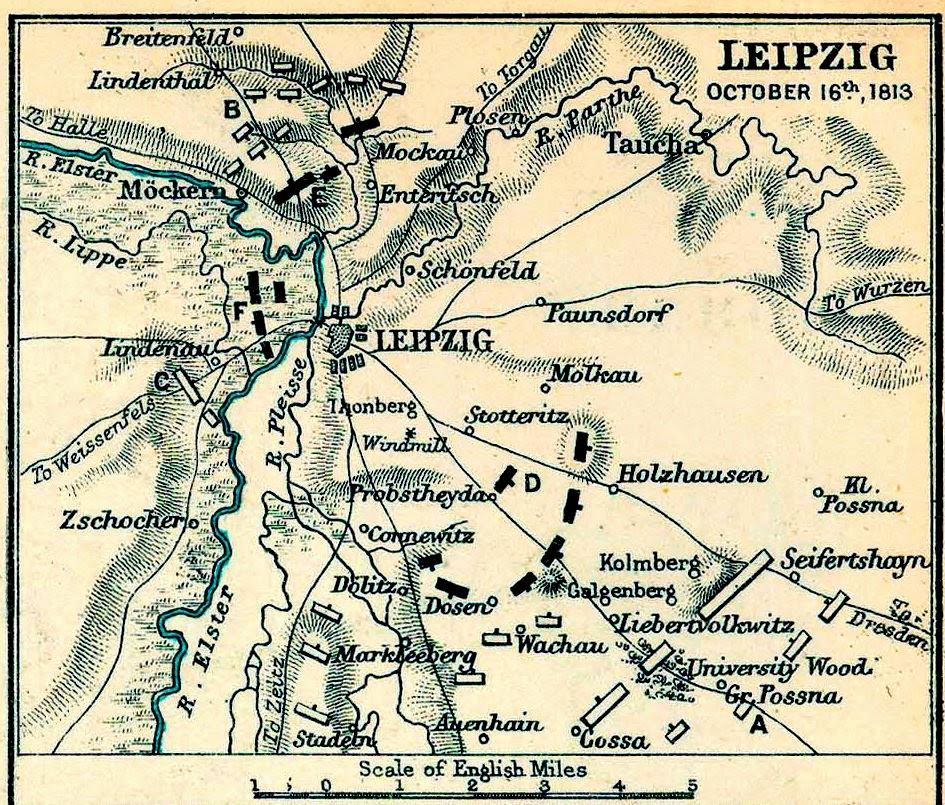 Avon Napoleonic Fellowship Guest Blogger Leipzig Day One - Map of leipzig
