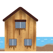 錆びた家のイラスト