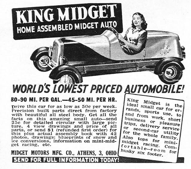 Midget Motors Mfg Co., Athens Ohio