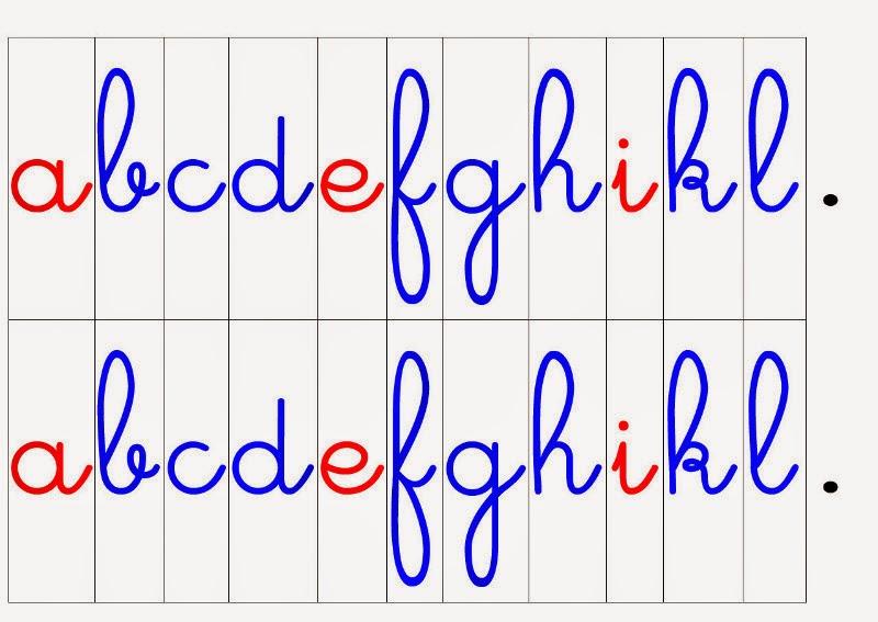 Crapouillotage alphabet mobile lettres cursives - Lettres alphabet maternelle ...