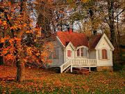 Imposible resistir la tentación del otoño casita en el bosque durante el otoã±o autumn beautiful cotagge in the forest