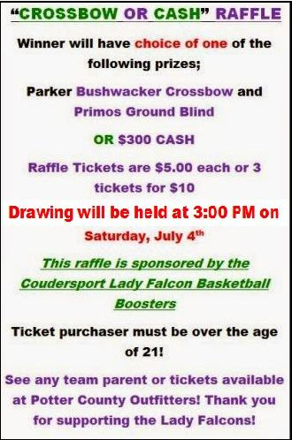 7-4 Crossbow or Cash Raffle