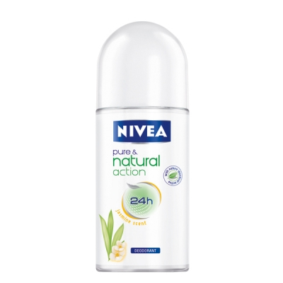 NIVEA Pure & Natural Roll-On Deodorant, Rangkaian Proudk NIVEA Pure & Natural, NIVEA Pure & Natural, NIVEA