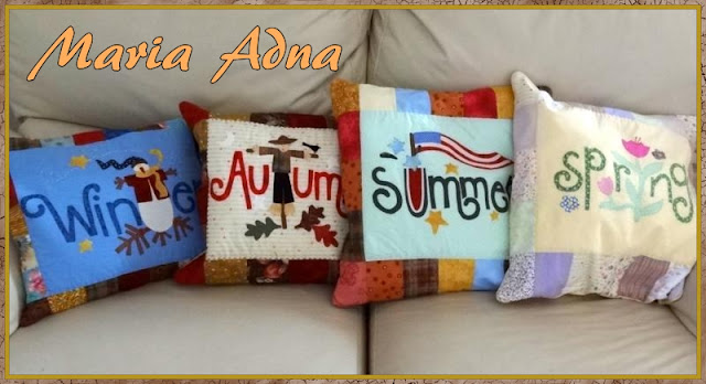 Almofadas patchwork, Almofadas apliquê, Almofadas patchwork apliquê, Trabalho publicado em revista, Maria Adna, Patchwork-bolsas-afins, magazine published patchwork pillow, patchwork pillow, patchwork, applique pillow, patchwork applique pillow