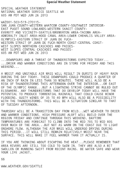 Olympic weather statement