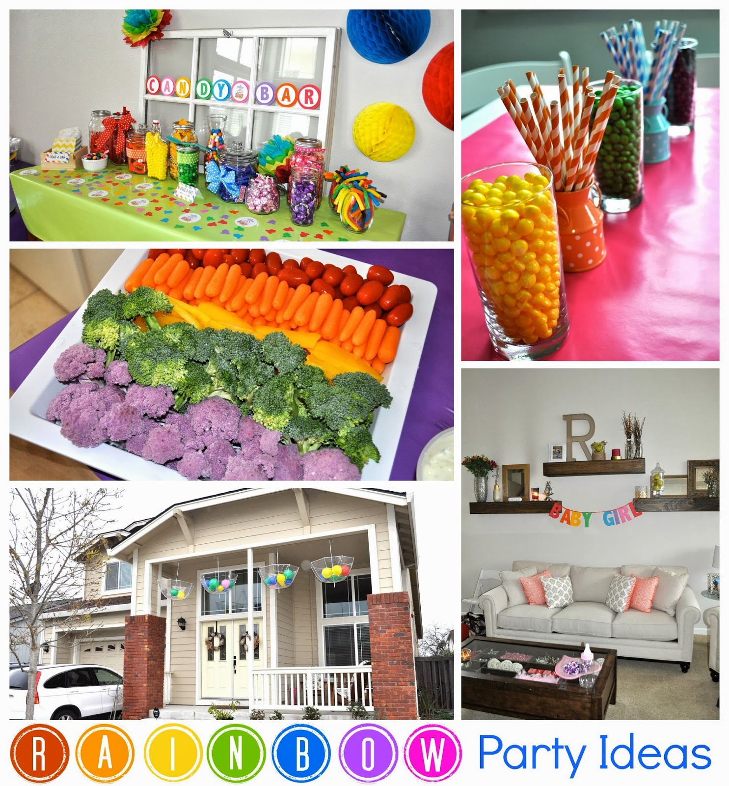 Floating bed ideas - Measure Once Cut Twice Rainbow Baby Shower Decorations