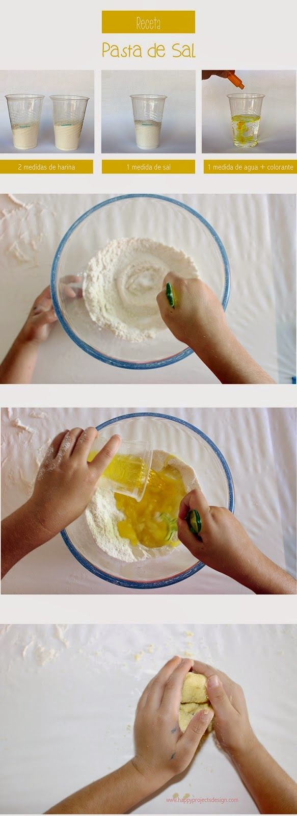 pasta de sal harina agua manualidades