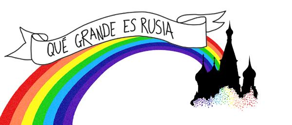 Qué grande es Rusia...