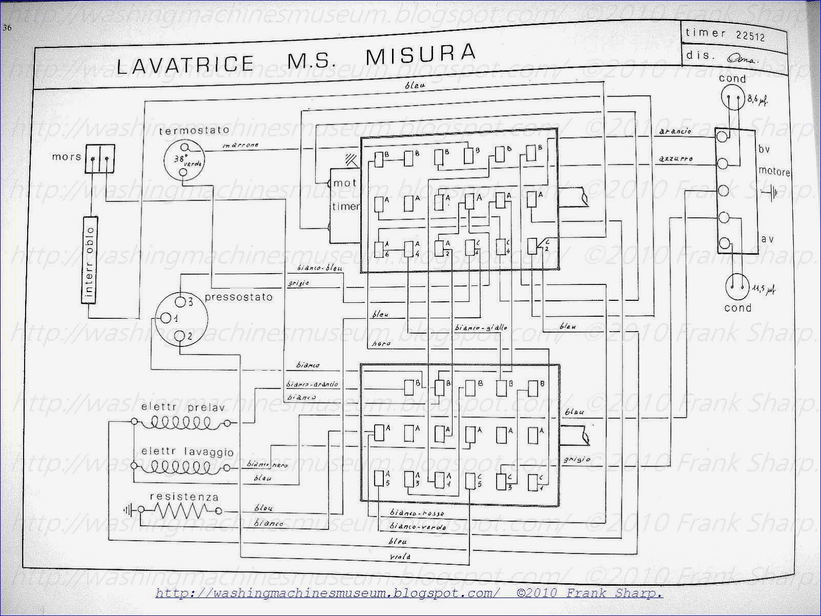 washer rama museum   candy m s  misura timer 22512 schematic diagram