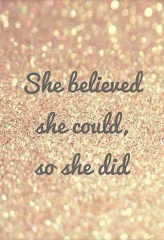 Ela acredita