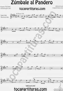 Partitura de Zúmbale al Pandero para Saxofón Alto y Sax Barítono by Sheet Music for Alto and Baritone Saxophone Music Scores
