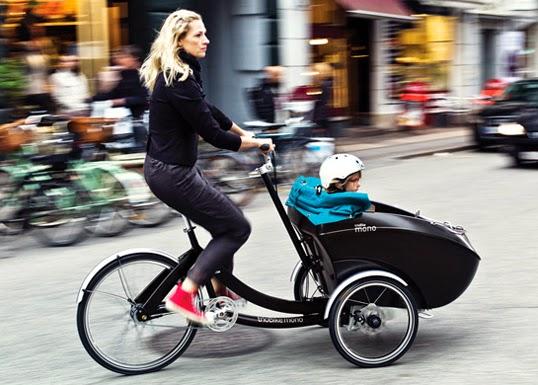 オシャレでそして環境にも優しいカーゴバイク