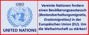 UNO  und  Weltwirtschaft fordern