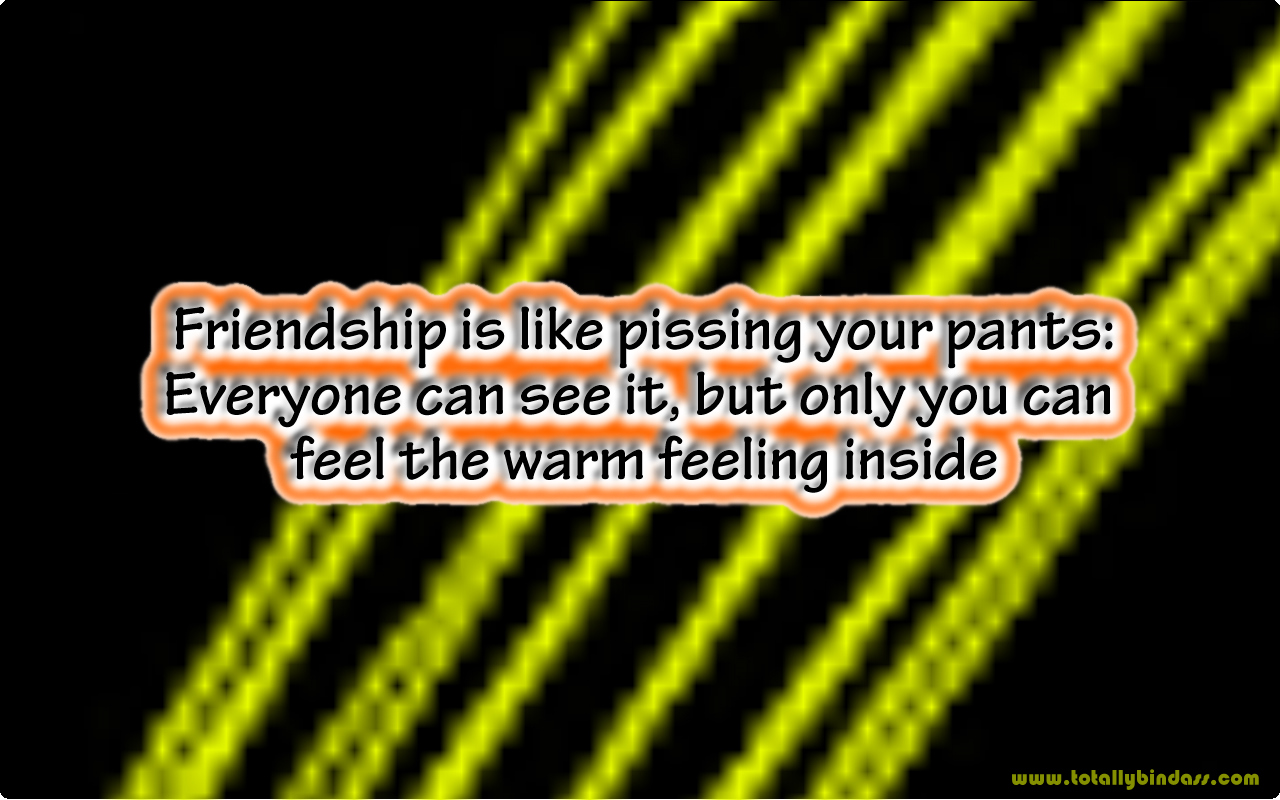 Funny Friendship Quotes Picture Wallpaper