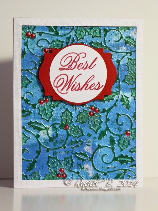 Holiday card Impression Obsession Best Wishes Darice