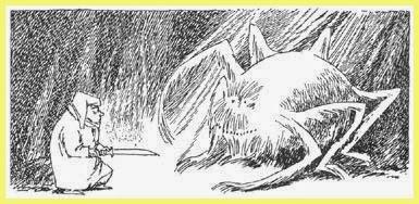 Ilustración Hobbit Tove Jansson