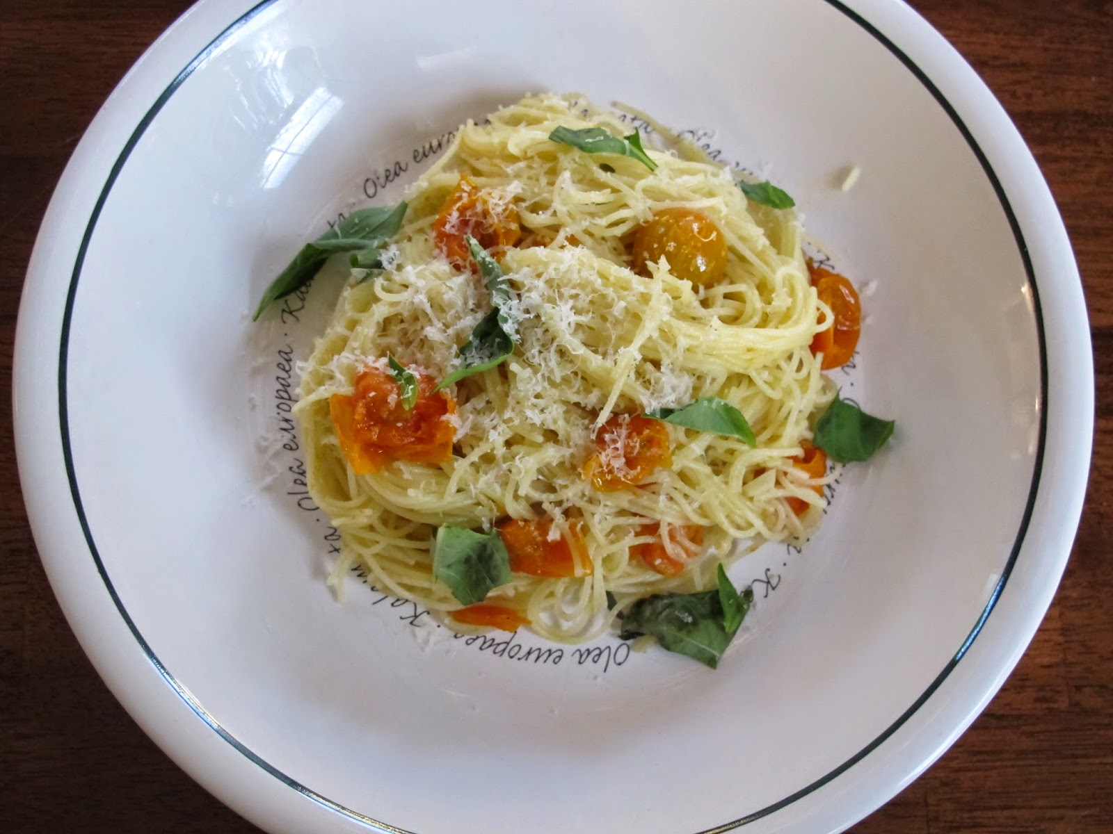 Angel Hair Pasta with Roasted Cherry Tomatoes