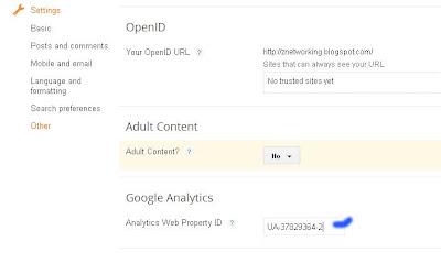 Menambahkan Google Analytic pada Blogger