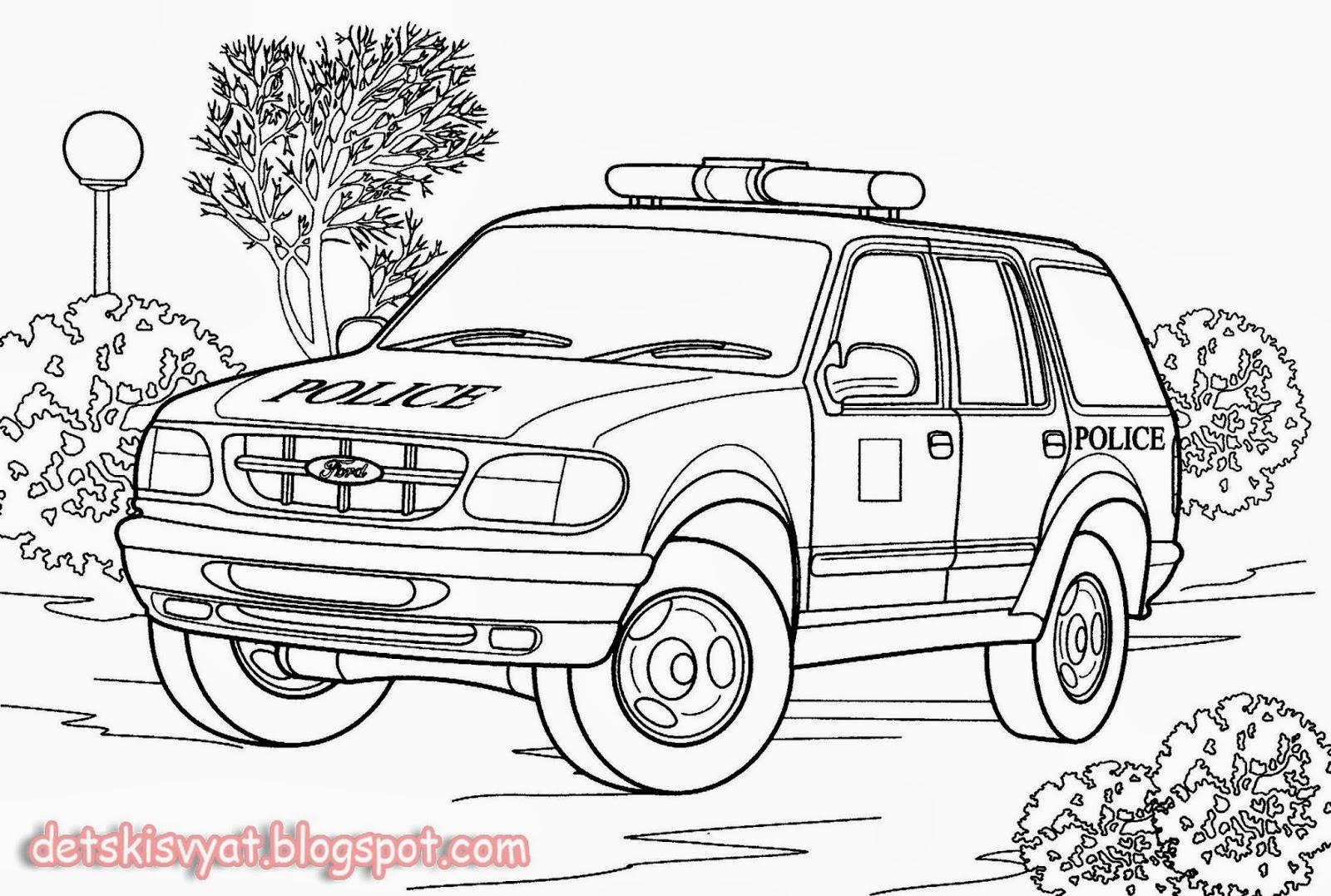 раскраски картинки машины для детей