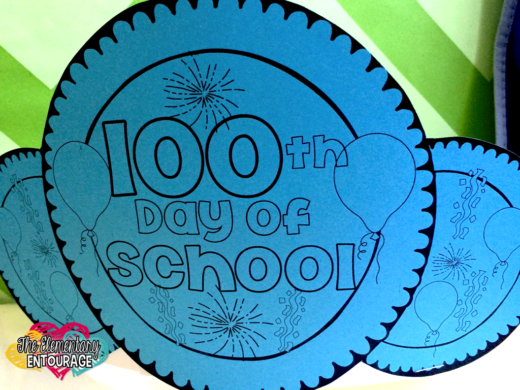 The elementary entourage 100 days and counting with for 100th day of school crown template