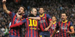 Video Gol Manchester City vs Barcelona 19 Februari 2014