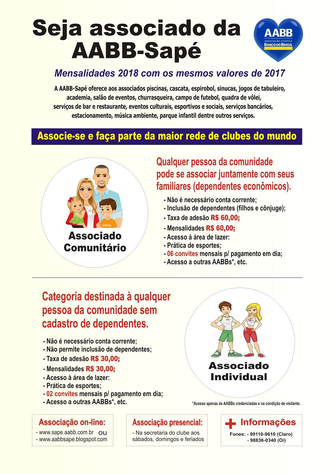 CAMPANHA DE ASSOCIAÇÃO 2018