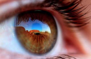 paisaje en un ojo