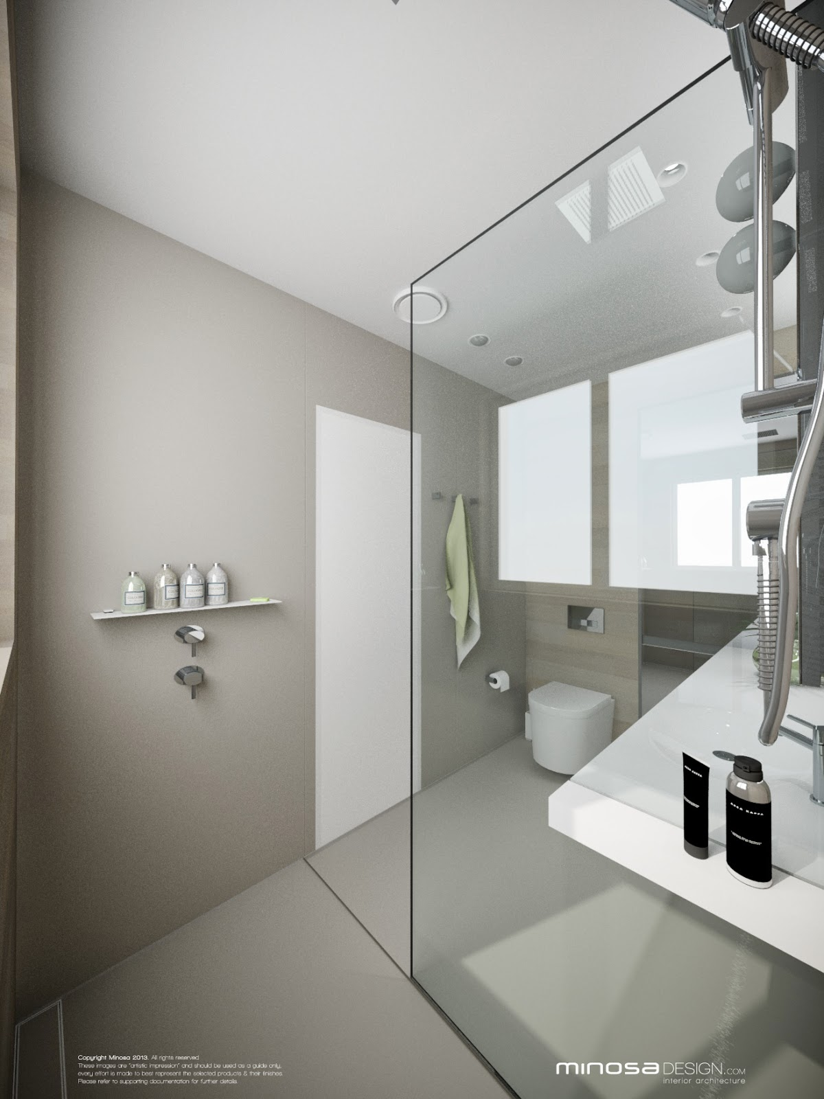 Minosa bringing sexy back the modern bathroom for Modern small ensuite