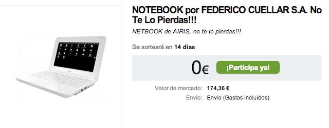 NOTEBOOK por FEDERICO CUELLAR S.A. No Te Lo Pierdas!!! NETBOOK de AIRIS, no te lo pierdas!!!