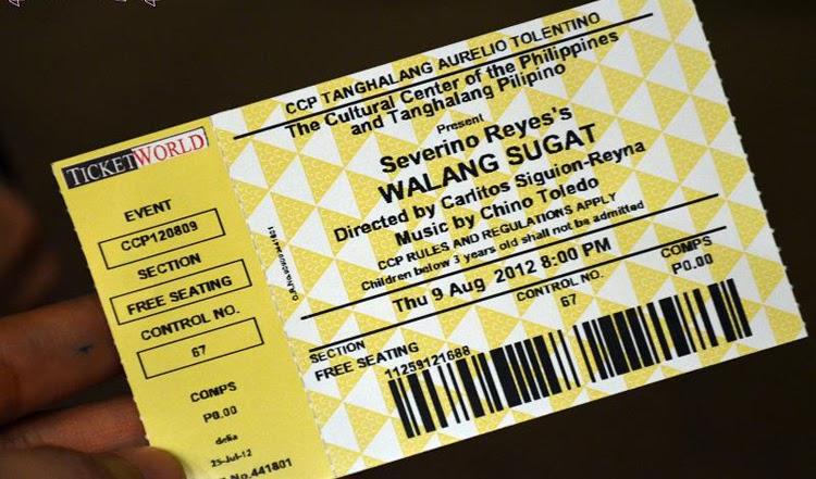 """Tanghalang Pilipino: """"Walang Sugat"""" by Severino Reyes"""