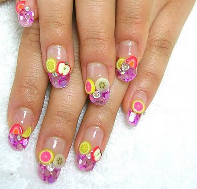 Nail art: Fruits nail art