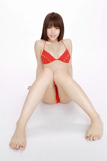 Mizuho Shiraishi Japanese Sexy Model Sexy Red Swimsuit Part 2 Photo 10