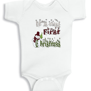 It's my First Christmas Snowman Onesie