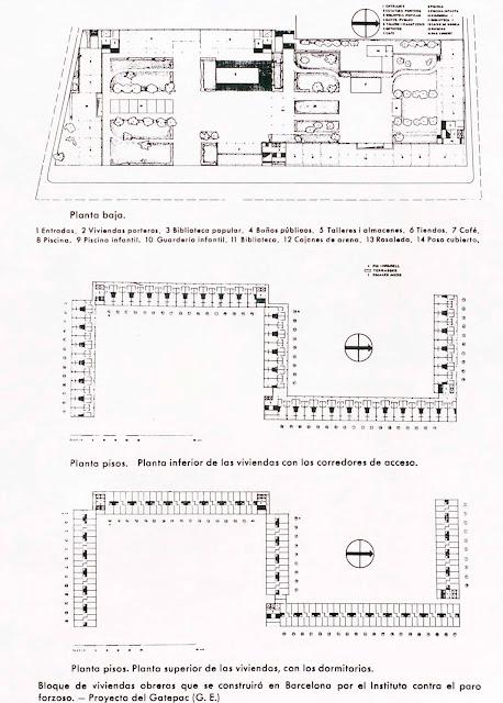 La Casa Bloc - Barcelona - plantas