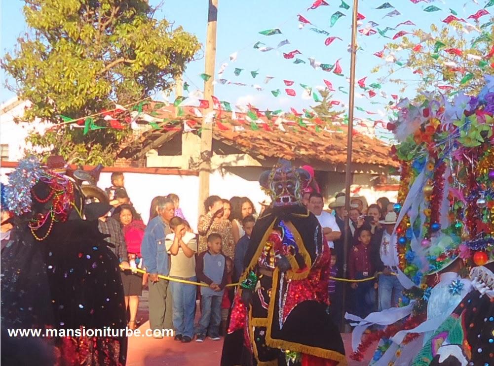 Tocuaro Masks during Fiesta de los Negritos