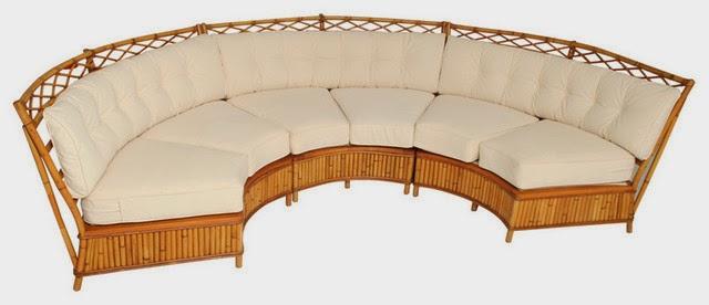 canapé rotin d'angle