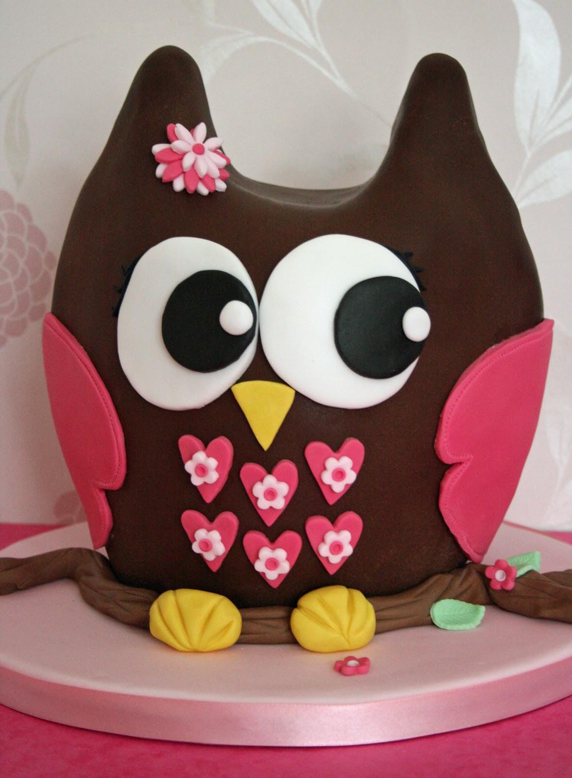 Lauralovescakes 3d Chocolate Owl Cake