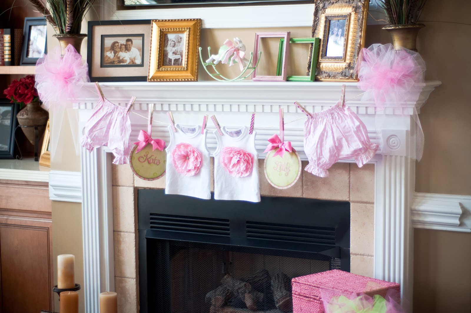 baby shower decorating ideas clothes line wishing tree